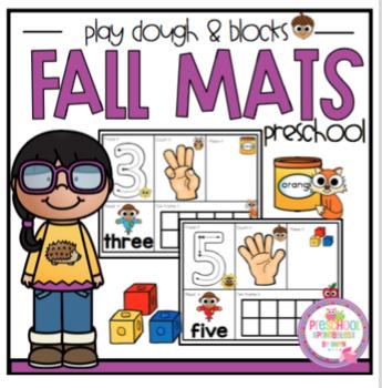 Fall Mats Play Dough and Blocks