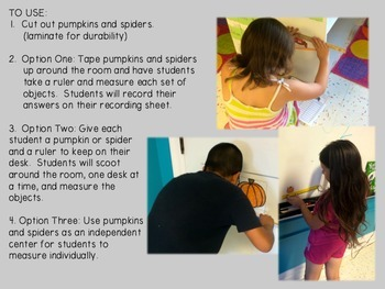 Fall Measurement Activity (using half-inches and centimeters)