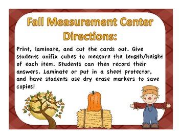 Fall Measurement Math Center