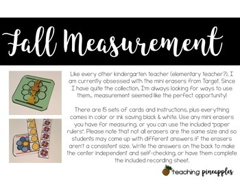 Fall Measurement... with mini erasers!