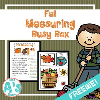 Fall Measuring Busy Box **FREEBIE**