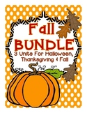 Fall Activities BUNDLE: 3 Fall Units (Fall Into Fall, Halloween & Thanksgiving)