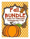 Fall Activities BUNDLE: 3 Fall Units (Fall Into Fall, Hall