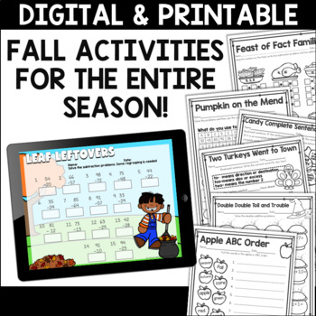 Fall Activities Mega Bundle for Second Grade