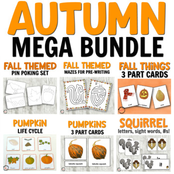 Fall Mega Bundle for Hands-on Learning Activities - language, math, and more!