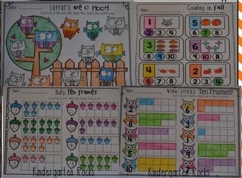 Fall Centers Mega Bundle for Kindergarten {CCSS}