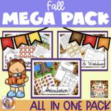 Fall Mega Pack- Language, Social skills, Articulation