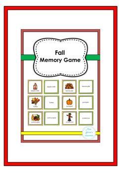 Fall Memory Game