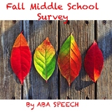 Fall Social Skills Middle and High School