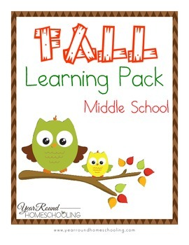 Fall Middle School Learning Pack
