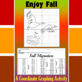 Fall Migration - A Fall Coordinate Graphing Activity