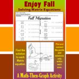 Fall Migration - A Math-Then-Graph Activity - Solve Matrix Equations