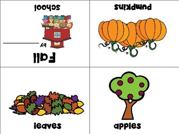 Fall - Autumn Mini Books - ESL/ENL, Special Needs, Young Learners