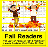 Fall Emergent Readers-3 Different Books-4 Versions of Each-12 Books