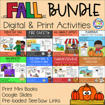 Fall Mini Books and Printables - Bundle