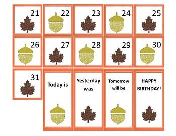 Fall Mini Calendar Cards