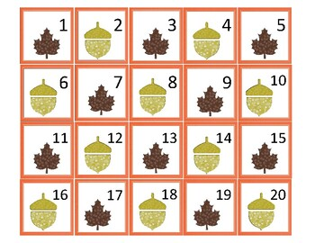 Fall Mini Calendar Cards