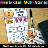 Fall Mini Eraser - Math Centers Sampler