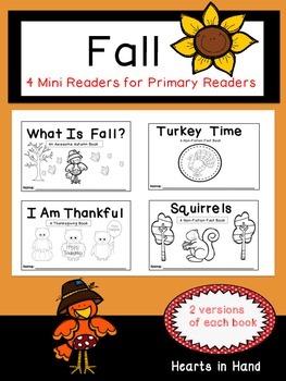 Fall Mini-Readers For Primary Grades(K-2)