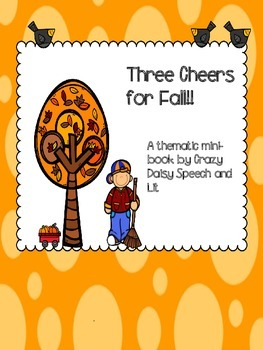 Fall Mini-book for Vocabulary and S-V-O sentence formation