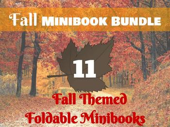 Fall Minibook Bundle: Fall themes and holidays