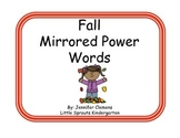 Fall Mirrored Sight Words