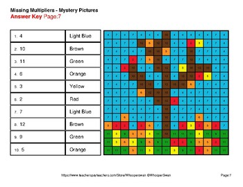 Fall: Missing Multipliers - Color-By-Number Mystery Pictures