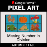 Fall: Missing Number in Division - Pixel Art Math | Google Forms