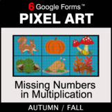 Fall: Missing Numbers in Multiplication - Pixel Art Math |