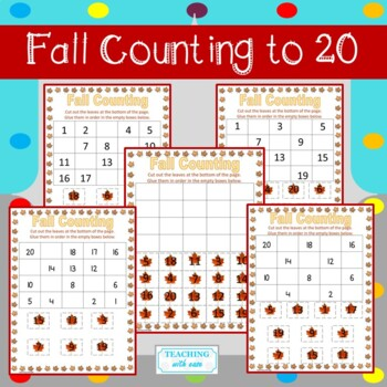 Fall Missing Numbers to 20 Bundle!