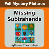 Fall: Missing Subtrahends - Color-By-Number Mystery Pictures
