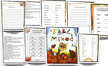 Fall Mixed Up Lesson Plan - by Bob Raczka