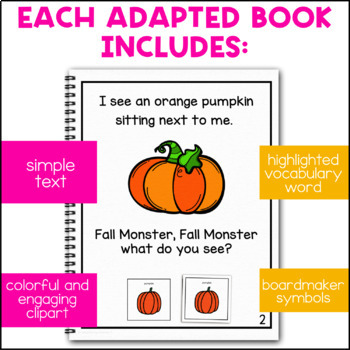 Fall Monster Takes a Walk: Adapted Book for Students with Autism & Special Needs