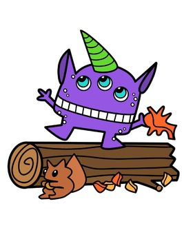 Fall Monsters Clipart