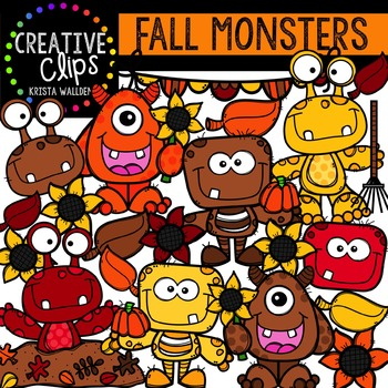 Fall Monsters {Creative Clips Digital Clipart}