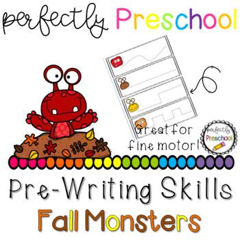 Fall Monsters Prewriting Skills