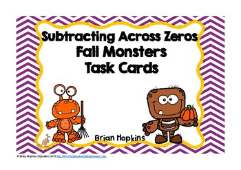 Fall Monsters Subtracting Across Zeroes