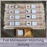 Fall Montessori Matching Activity