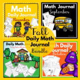 Kindergarten - Special Education -Math Daily Journals Fall Bundle