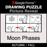 Fall: Moon Phases - Drawing Puzzle   Google Forms