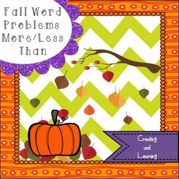 Fall More and Less Word Problems