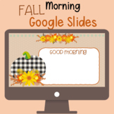 Fall Morning Meeting Wait Google Slides with Timers