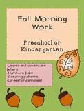 Fall Morning Work