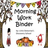 Morning Work Binder (Fall)