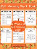 Fall Morning Work Book