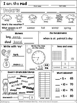 Fall Morning Work Bundle:  Second Grade