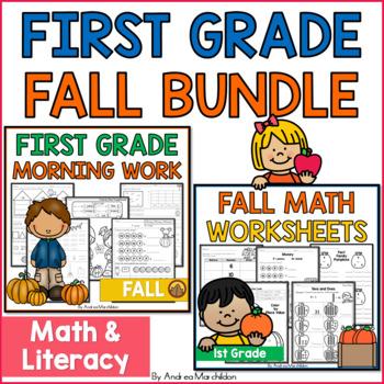 Fall Morning Work & Math Worksheets Bundle
