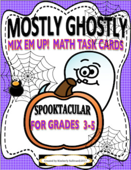 Back to School Halloween Math Mostly Ghostly and Spooky Spider's Game!