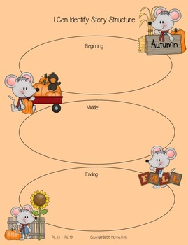 Fall Mouse Unit- Common Core for First and Second Grade