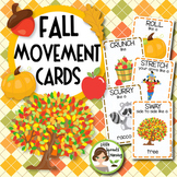 Fall Movement Cards - Brain Breaks (Transition activity)
